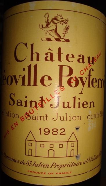 Chateau Leoville Poyferre 1982