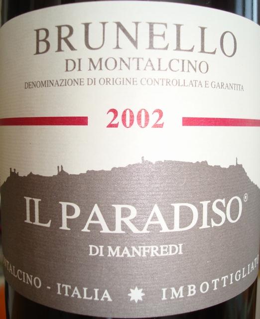 Brunello Di Montalcino Il Paradiso Di Manfredi 2002