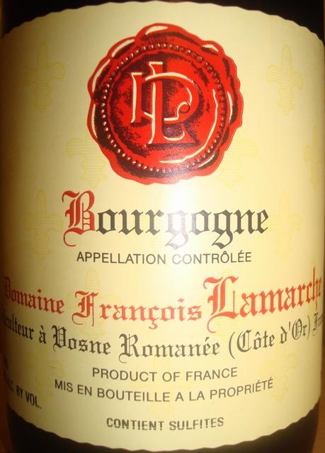 Bourgogne Domaine Fancois Lamarche 2005