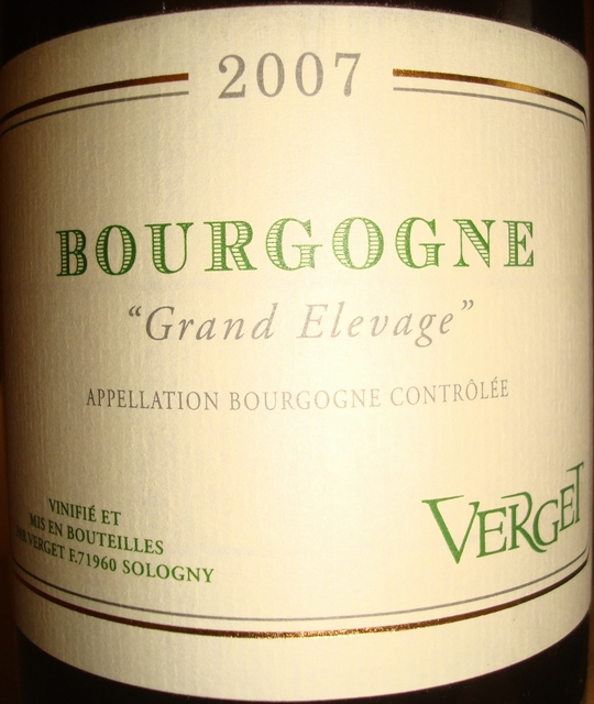 Bourgogne Grand Elevage Verget 2007