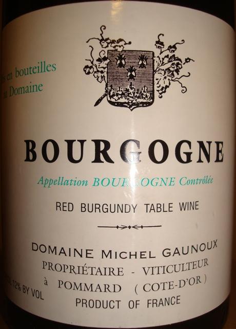 Bourgogne Domaine Michel Gaunoux 2003