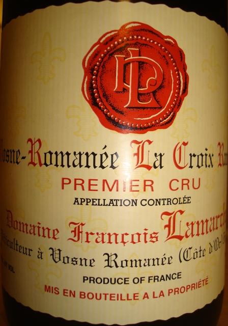 Vosne Romanee La Croix Rameau Francois Lamarche 2001