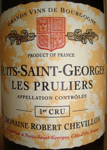Nuits Saint Georges Les Pruliers Domaine Robert Chevillon 2004