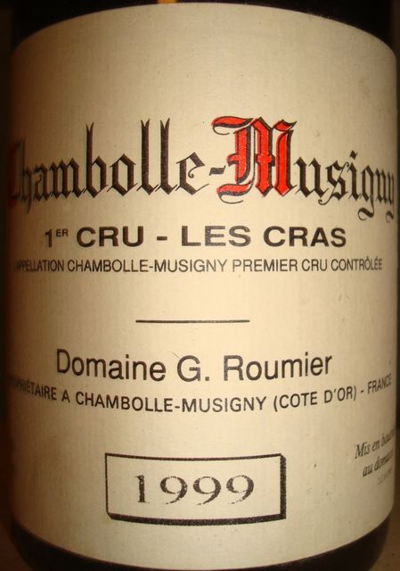 Chambolle Musigny Les Cras 1999 Domaine G Roumier