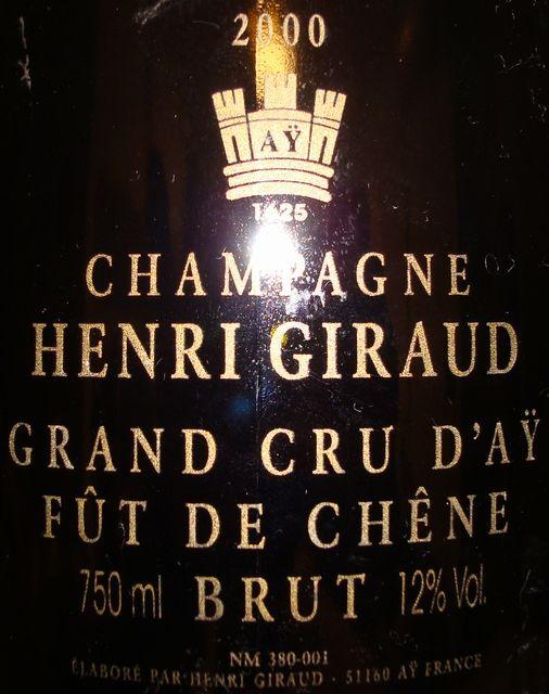 Champagne Henri Giraud Grand Cru DAY FUT DE CHENE 2000