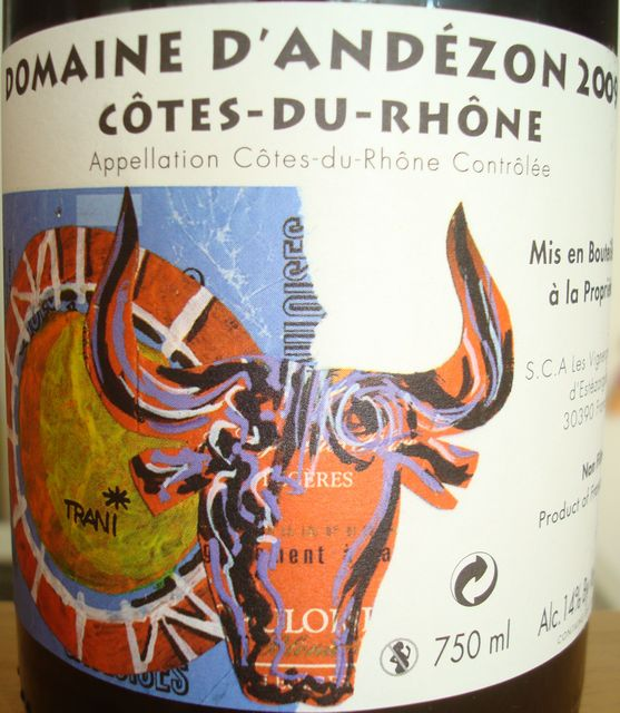 Cotes du Rhone Domaine DAndezon 2009