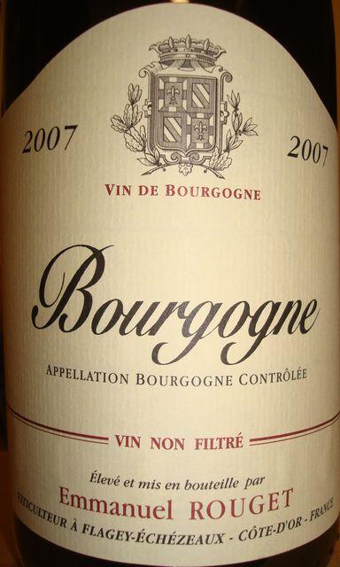 Bourgogne Emmanuel Rouget 2007