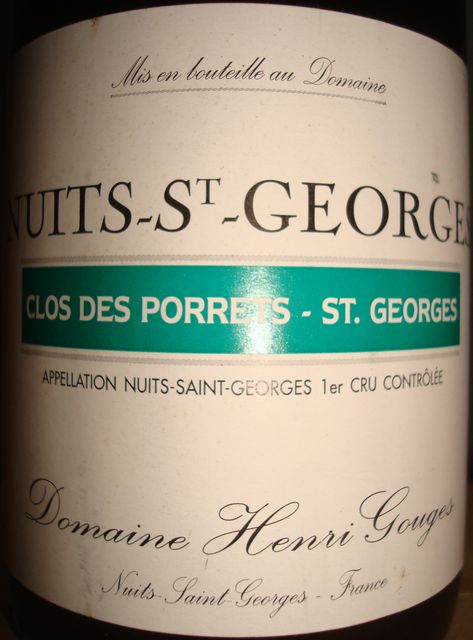 Nuits St Georges Clos Des Porrets 1999 Henri Gouges