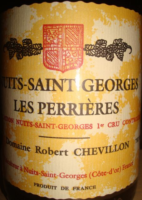 Nuits Saint Georges Les Perrieres 1999 Robert Chevillon