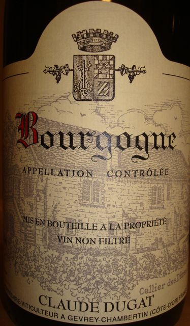 Bourgogne Claude Dugat 2008