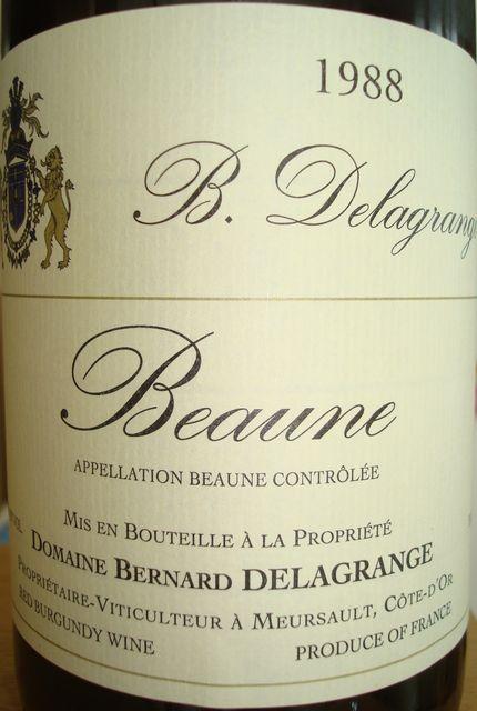 Beaune Bernard Delagrange 1988