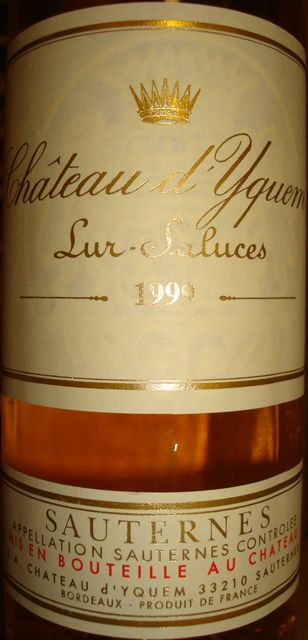 Chateau dYquem 1999 375ml