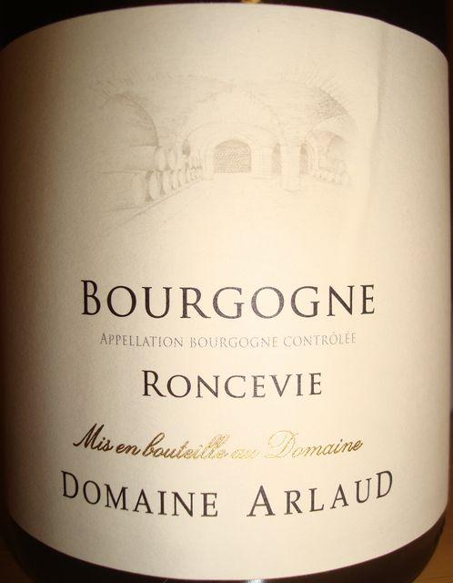 Bourgogne Roncevie Domaine Arlaud 2008