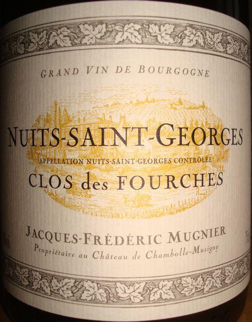Nuits Saint Georges Clos des Fourches Jacques Frederic Mugnier 2008