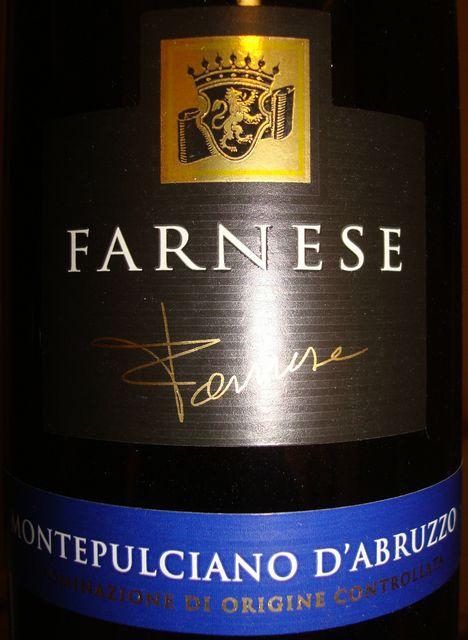 Farnese Montepuciano Dabruzzo 2009