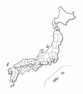 かっちゃん勢力図 2009年11月4日現在