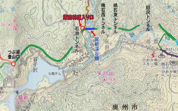 林道入り口図