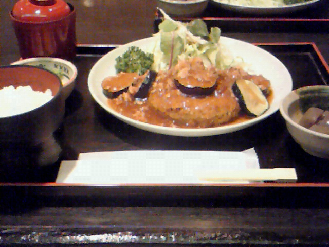 瀬るび(豆腐ハンバーグ定食)