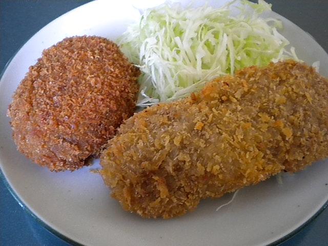 笹山精肉店(コロッケとミンチかつ)