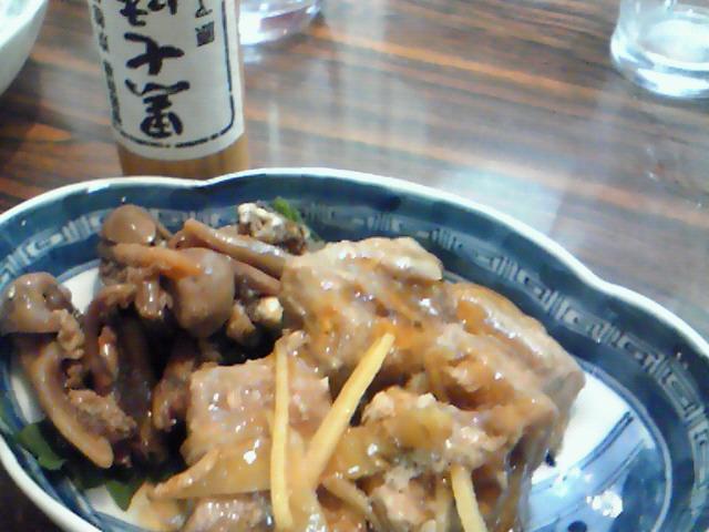 藤原(マグロの煮こごりとアナゴの肝)
