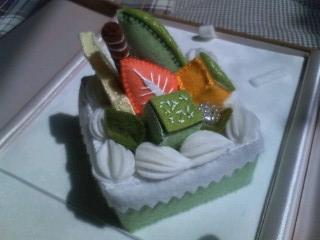 メロンのスクエアケーキ②