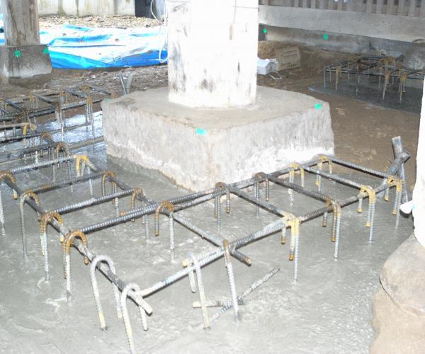 井波別院瑞泉寺 本堂 耐圧盤基礎コンクリート打設完了