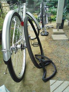 ファミリー自転車ータイヤチューブ交換