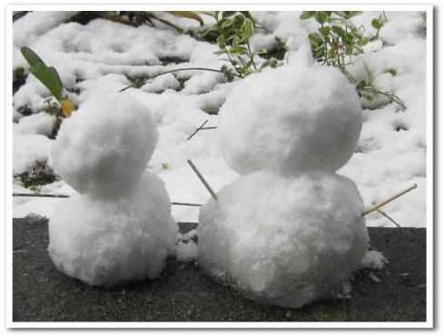 雪だるまー1
