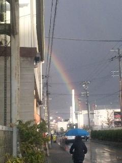 虹が出たー!