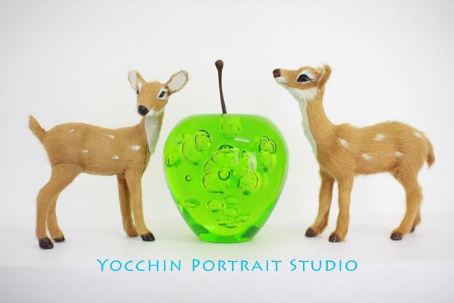 青リンゴと鹿