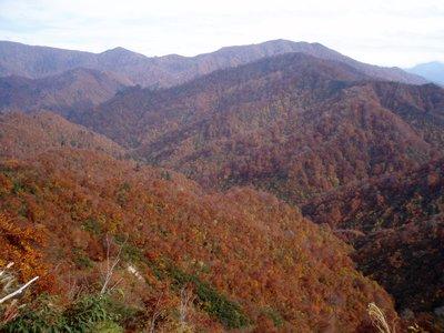 枝折峠先の銀山湖側