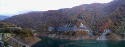 三国川(さぐりがわ)ダムの紅葉