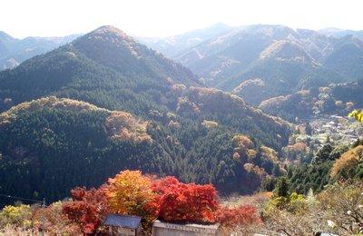 城峯山への上りから