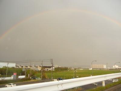虹だ虹だぁ^^