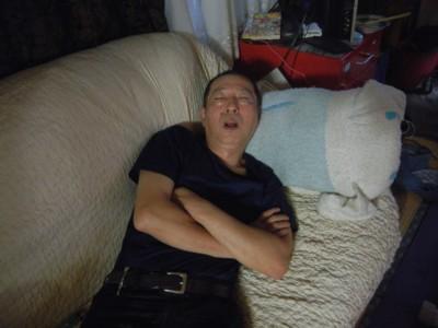 お疲れの健さん