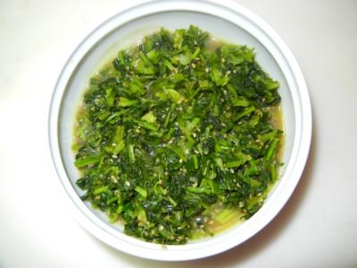 カブの葉の炒め物