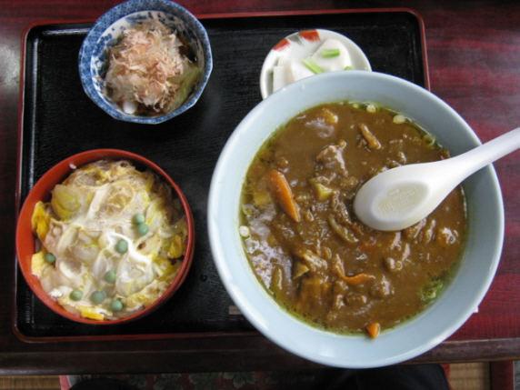 東園カレーラーメンカツ丼セット091024