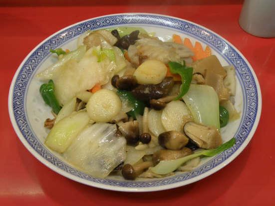 龍昇園野菜炒め20100109