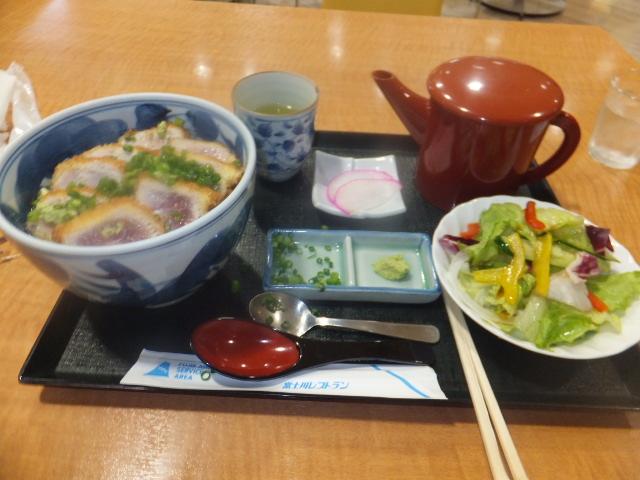 マグロカツ丼セット①