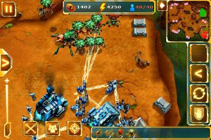 スペースフロントゲーム画面