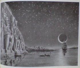 月と星に照らされたナイル川