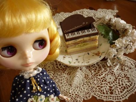 かわいいでしょ、ピアノケーキ。