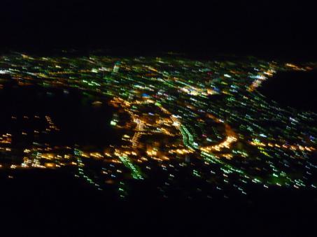 函館100万ドルの夜景。ぶれてる。