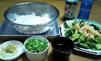 そうめん&ポテトサラダ-mini