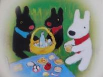リサとガスパールイラストピクニック