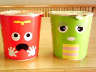 ガチャピン・ムックのカップスープ