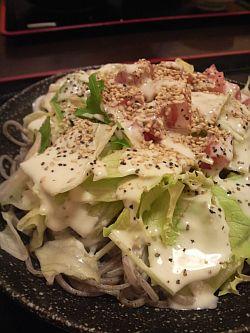 胡麻シーザーサラダ蕎麦!