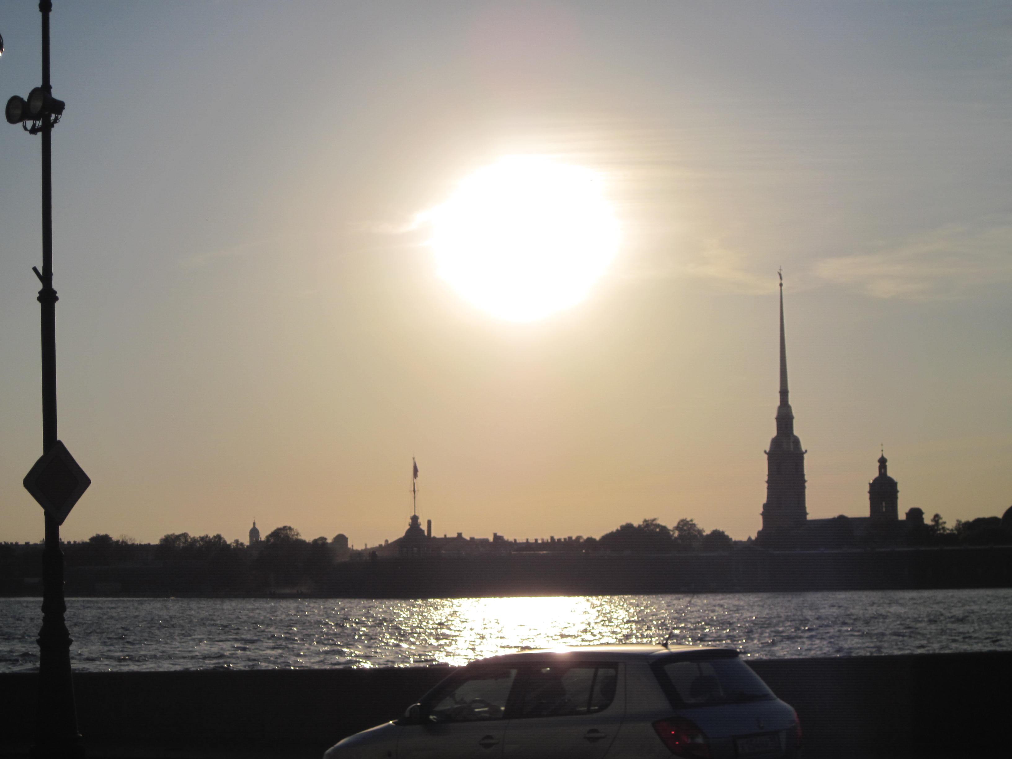 ペトロパヴロフスク要塞の夕陽