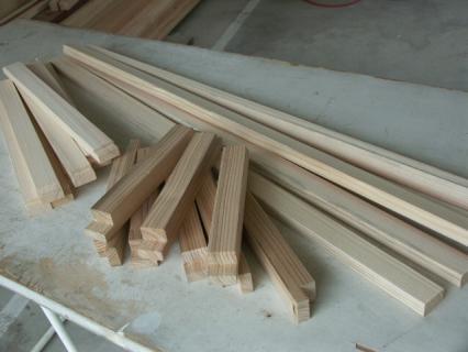 ガーデンラックフレーム材料
