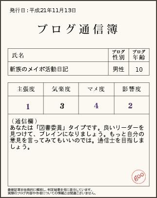 09.11.14 ブログ通信簿